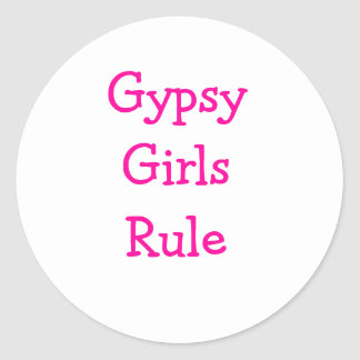 Gypsy stuff & TYSON FURY Classic Round Sticker