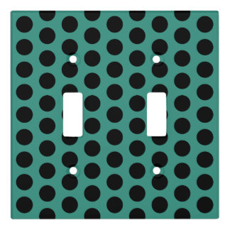 Gypsy Teal and Black Polka Dot Light Switch Cover