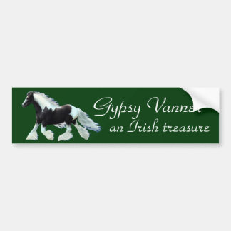 Gypsy Vanner, an Irish treasure Bumper Sticker