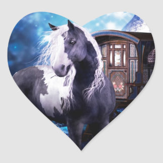 Gypsy Vanner Dreams Heart Sticker