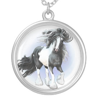 Gypsy Vanner Prince Silver Plated Necklace