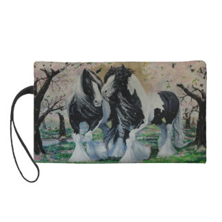 Gypsy Vanner Stallion/Mare horse cherry blossom Wristlet