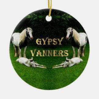 Gypsy Vanners Ceramic Ornament