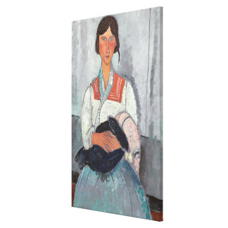 Gypsy Woman with Baby, 1919 (oil on canvas) Canvas Print