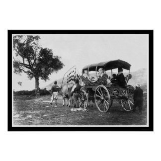 Gypsy Women in a Wagon in Turkey 1895 Poster