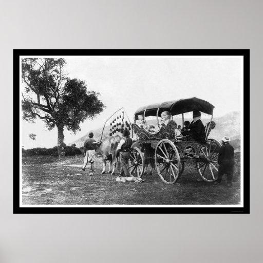 Gypsy Women in a Wagon in Turkey 1895 Poster