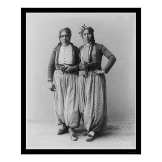 Gypsy Women in Palestine 1893 Poster