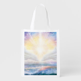 H006 Dolphins Heart Reusable Grocery Bag