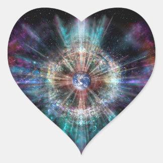 H007 Earth Aura Heart Sticker