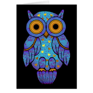 H00t Owl Midnight Madness Blank Card