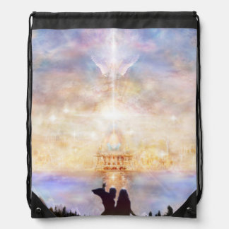 H010 Welcome Home Drawstring Bag