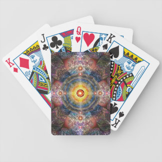 H012 Heart Mandala 2 Bicycle Playing Cards