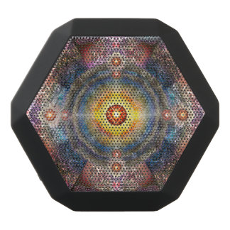 H012 Heart Mandala 2 Black Bluetooth Speaker