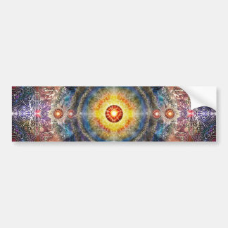 H012 Heart Mandala 2 Bumper Sticker