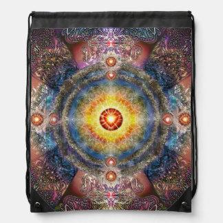 H012 Heart Mandala 2 Drawstring Bag