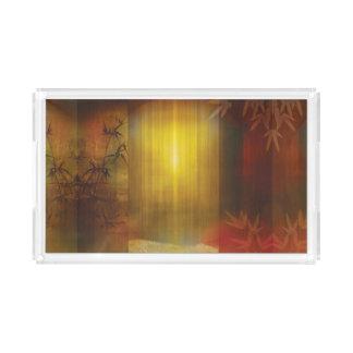 H017 Zen Screen Rust Acrylic Tray