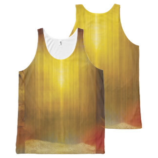 H017 Zen Screen Rust All-Over-Print Tank Top