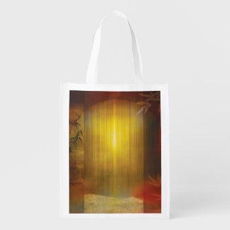 H017 Zen Screen Rust Reusable Grocery Bag