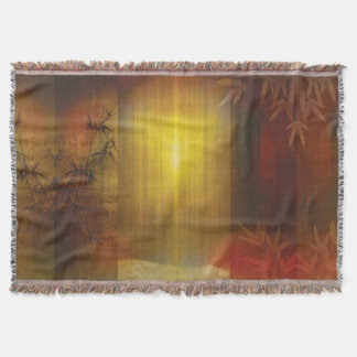 H017 Zen Screen Rust Throw Blanket