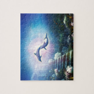 H019 Nori Dolphins Jigsaw Puzzle