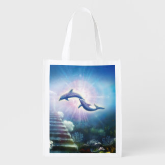 H019 Nori Dolphins Reusable Grocery Bag