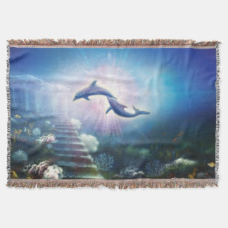 H019 Nori Dolphins Throw Blanket