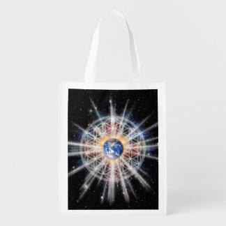 H022 Earth Aura Reusable Grocery Bag