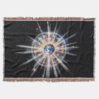 H022 Earth Aura Throw Blanket