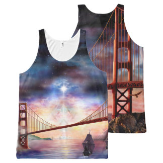 H024 Bridge to Truth All-Over-Print Tank Top