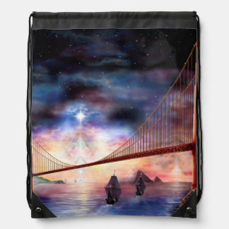 H024 Bridge to Truth Drawstring Bag
