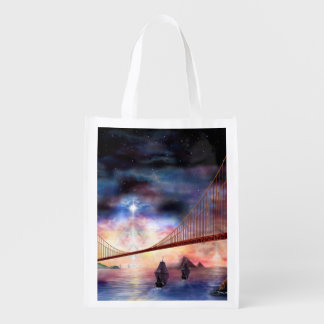 H024 Bridge to Truth Reusable Grocery Bags