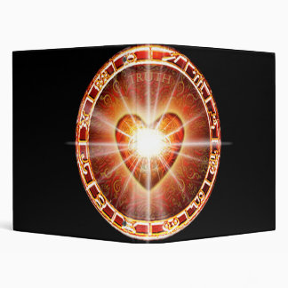 H025 Heart Logo 3 Ring Binders