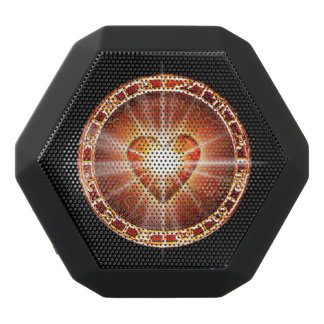 H025 Heart Logo Black Bluetooth Speaker