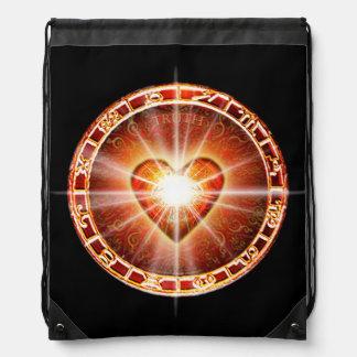H025 Heart Logo Drawstring Bag