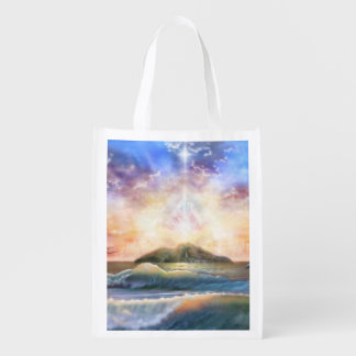 H026 Enchanted Isle Reusable Grocery Bag