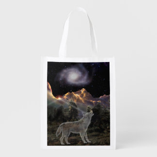 H029 Star Wolf Reusable Grocery Bag