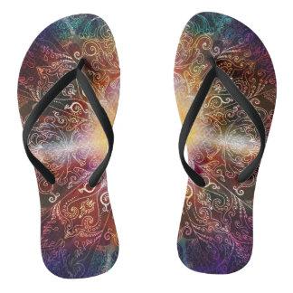H032 Mandala 2012-5 Flip Flops