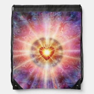 H034 Radiant Heart Drawstring Bag