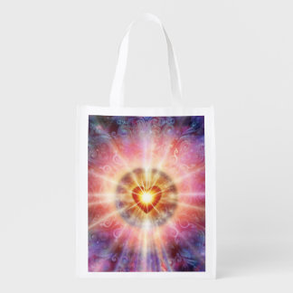 H034 Radiant Heart Reusable Grocery Bag