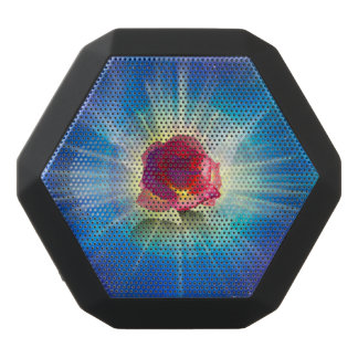 H035 Rose Wings Black Bluetooth Speaker