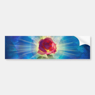 H035 Rose Wings Bumper Sticker