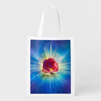 H035 Rose Wings Grocery Bags