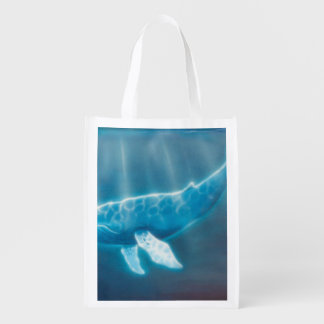 H036 Whale Below Reusable Grocery Bag