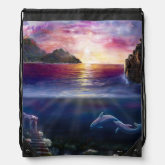 H037 Scorpio Sunset Drawstring Bag