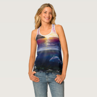 H037 Scorpio Sunset Tank Top