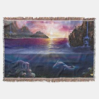 H037 Scorpio Sunset Throw Blanket