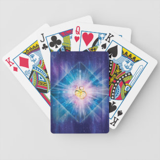 H039 Om Space Cube Bicycle Playing Cards