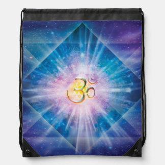 H039 Om Space Cube Drawstring Bag