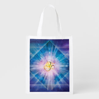H039 Om Space Cube Reusable Grocery Bag