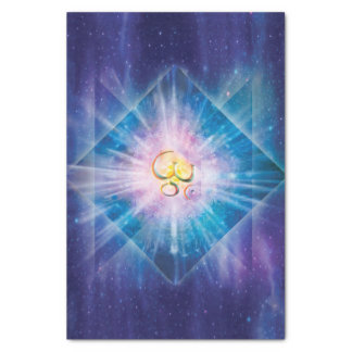 H039 Om Space Cube Tissue Paper